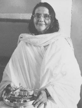 Sri Ma with Lord Padmanabha