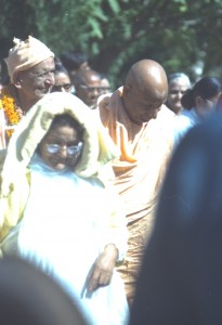 Swamiji (with cap) with Sw Govindanandji and Sri Ma